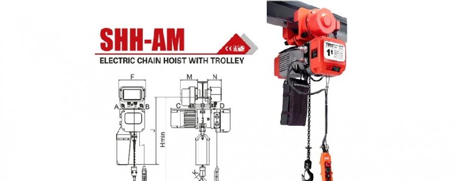 polipastos electricos de cadena tbm shh-a 1