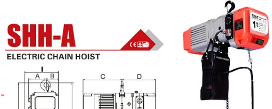 polipastos electricos de cadena tbm shh-a 3